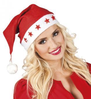Weihnachtsmütze blinkende Sterne: