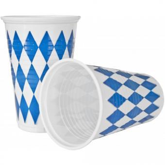 Oktoberfest Partybecher Bayern:10 Stück, 2 dl, blau/weiss