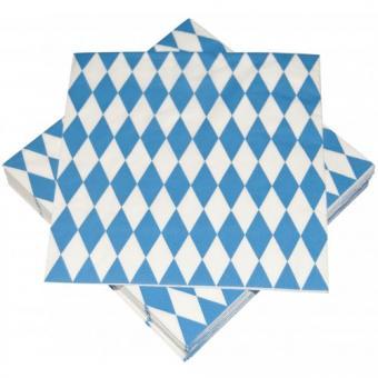 Oktberfest Servietten Bayern :33 x 33 cm, blau