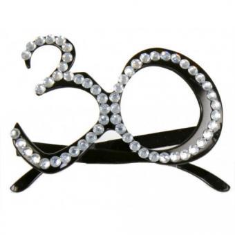 Brille 30 Jahre:schwarz