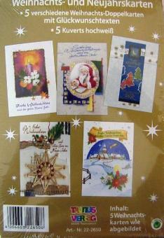 Weihnachtskarten 5er Set :mehrfarbig