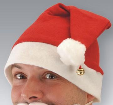 Nikolaus Mütze mit Glöckchen:rot