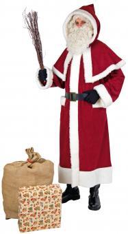 Weihnachtsmann Kostüm: Samichlaus mit Pellerine und Gürtel:rot