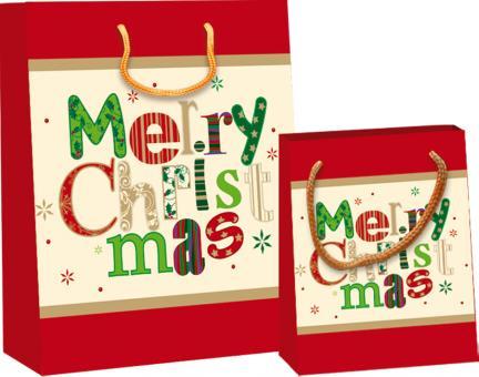 Kleine Weihnachts-Geschenktasche: