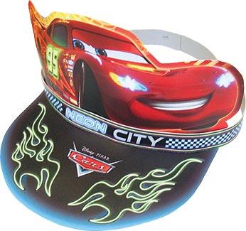 Cars Neon Partyhüte:6 Stück, 16 x 23 cm, mehrfarbig