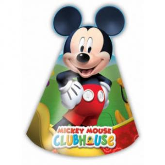 Mickey Mouse Partyhüte:6 Stück, 16 x 11.5 cm, bunt