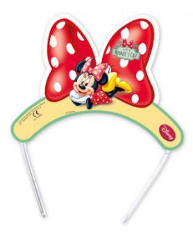 Minnie Mouse Tiaras:6 Stück, 15 x 10 cm, bunt
