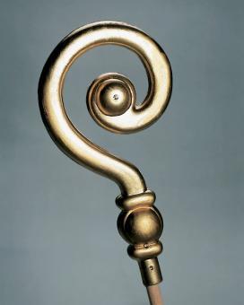 Bischofsstab-Aufsatz ohne Stab:36 cm, gold
