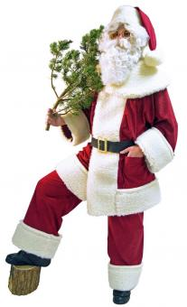 Santa Claus Kostüm: Nikolausanzug aus Waschsamt: