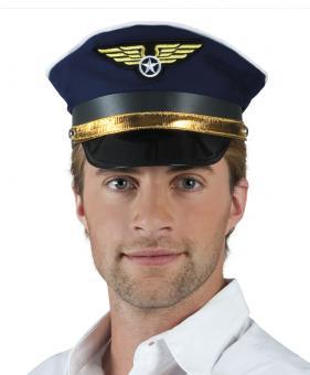 Pilotenmütze :blau