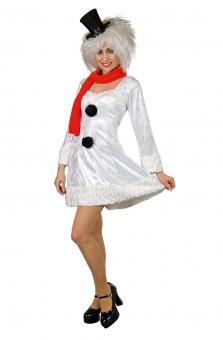 Schneefrau Kostüm: Kleid und Schal:
