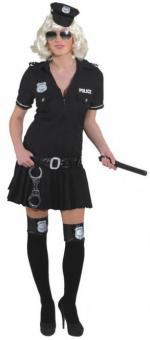 Police Girl Damenkostüm:schwarz 36