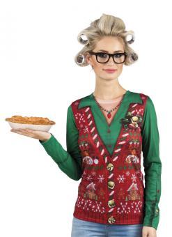 Christmas Shirt, Fotorealistisch :mehrfarbig