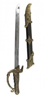 Piratenschwert mit Scheide :52 cm