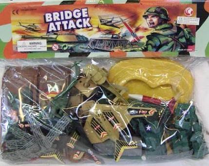 Militärfiguren Armyset Bridge Attack :