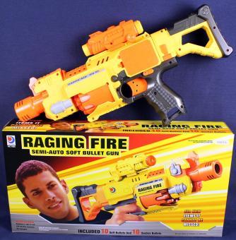 Gewehr mit Batterie Soft Gun :gelb