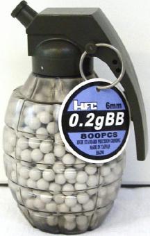 Munition in Handgranate geschliffen:800 Stück, 20g, weiss
