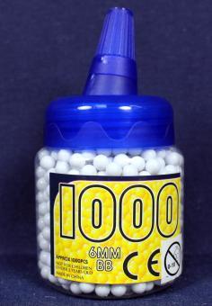 Munitionskügeli  geschliffen :1000 Stück, 12g, weiss