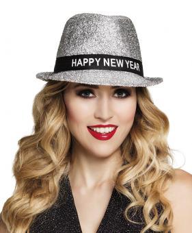 Hut Sparkling 'Happy New Year':silber