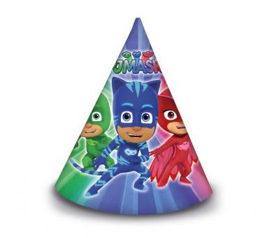 PJ Masks Partyhüte:6 Stück, 16 x 11.5 cm, bunt