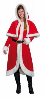 Weihnachtsmantel mit Cape:
