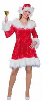 Weihnachtskleid mit Mütze: