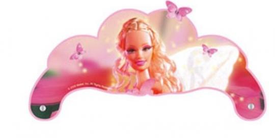 Barbie Tiaras: Kindergeburtstag Zubehör:6 Stück, 15 x 10 cm, pink