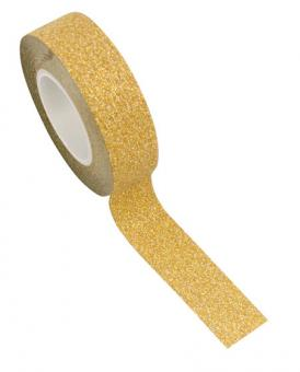 Glitter ribbon :10m x 1.5cm, or/gold