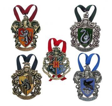 Harry Potter: Christbaumschmuck 5er-Pack Hogwarts:10 cm, mehrfarbig