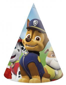 Paw Patrol Partyhüte:6 Stück, 16 x 11.5 cm, bunt