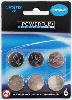Knopfzellen Batterien CR2032:6 Stück