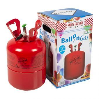 Ballongas Helium für bis 30 Luftballons:0.25 m3/, rot