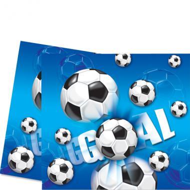 Fussball Party Tischdecke Tischdeko 120x180cm Blau