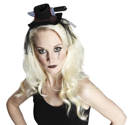 Kauf echt marktfähig doppelter gutschein Mini Hut mit Messer, Haarreif schwarz