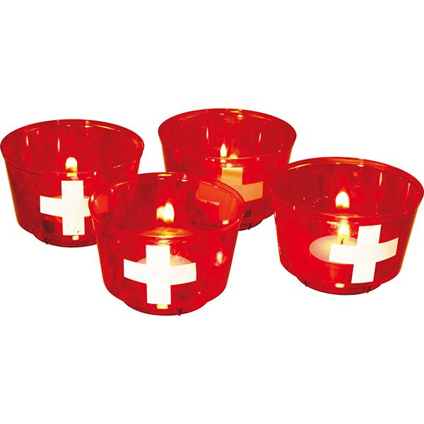 Schweiz 4 Leuchtbecher Für 1august Deko Schweizer Onlineshop Für
