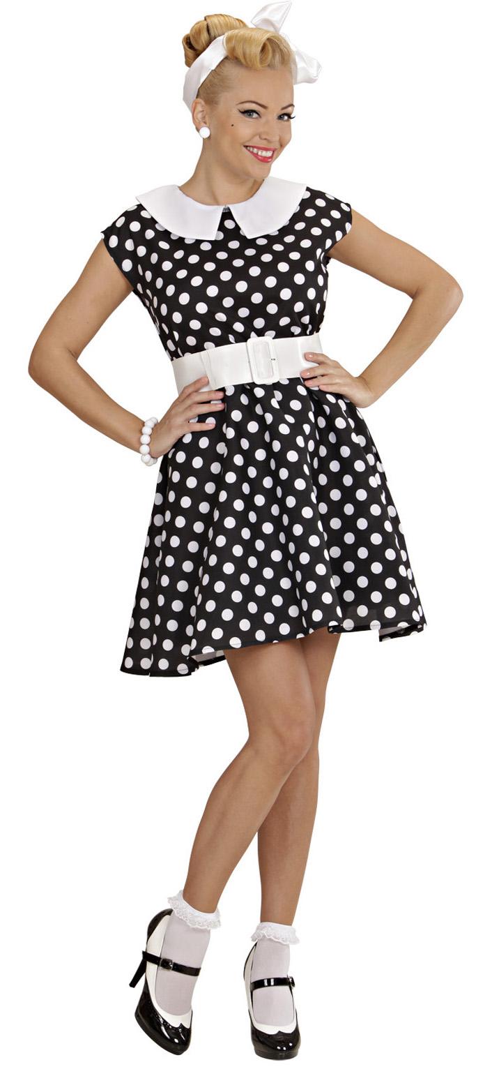 neuartiges Design akribische Färbeprozesse 100% Zufriedenheit Kostüm 50er Jahre Rock n Roll Damenkleid schwarz