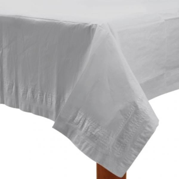 274 x 137 cm 108 by 54 wei/ß mit Kunststoff gef/üttert Papiertischdecke