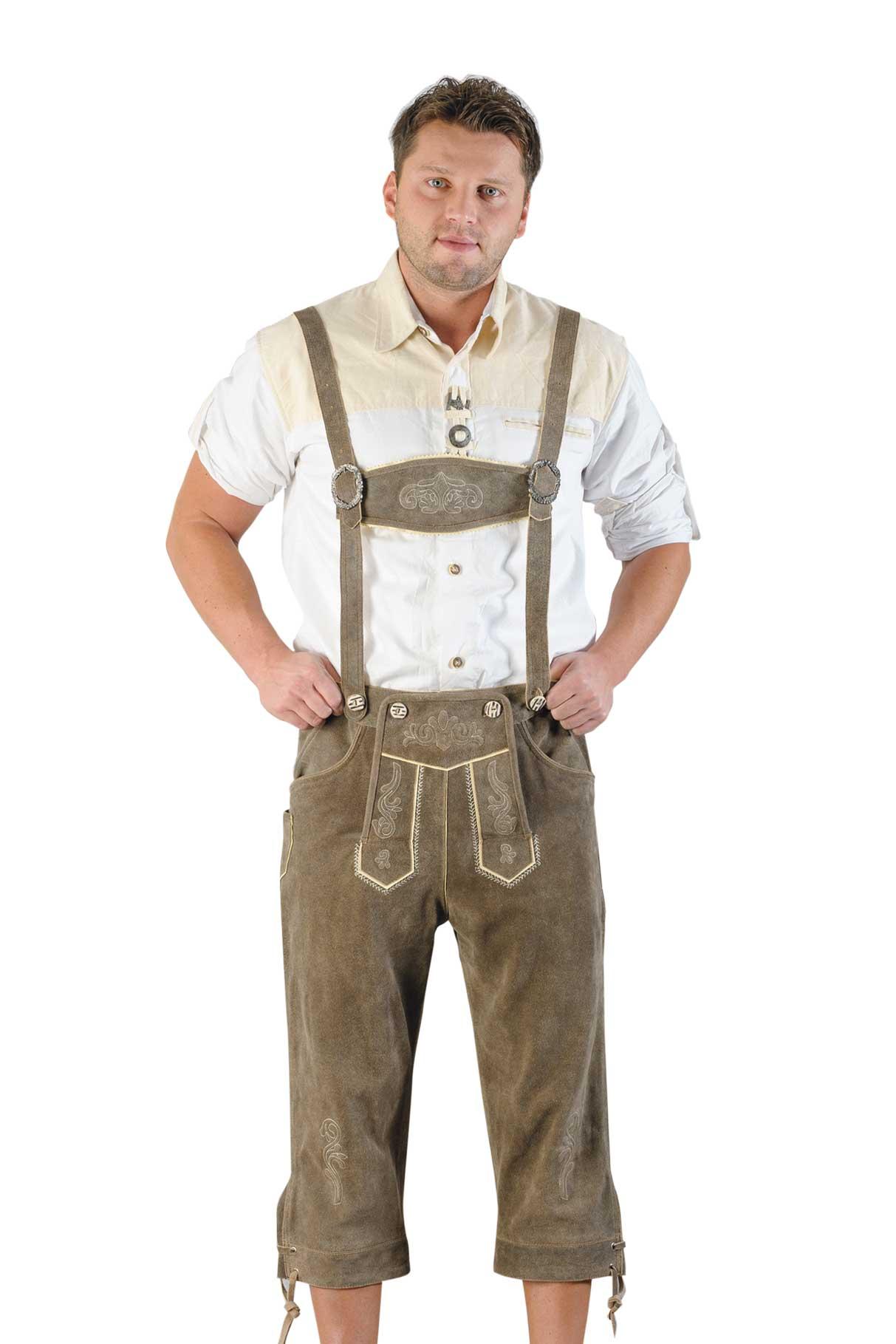 Oktoberfest Lederhosen Herren Grösse 50, grau
