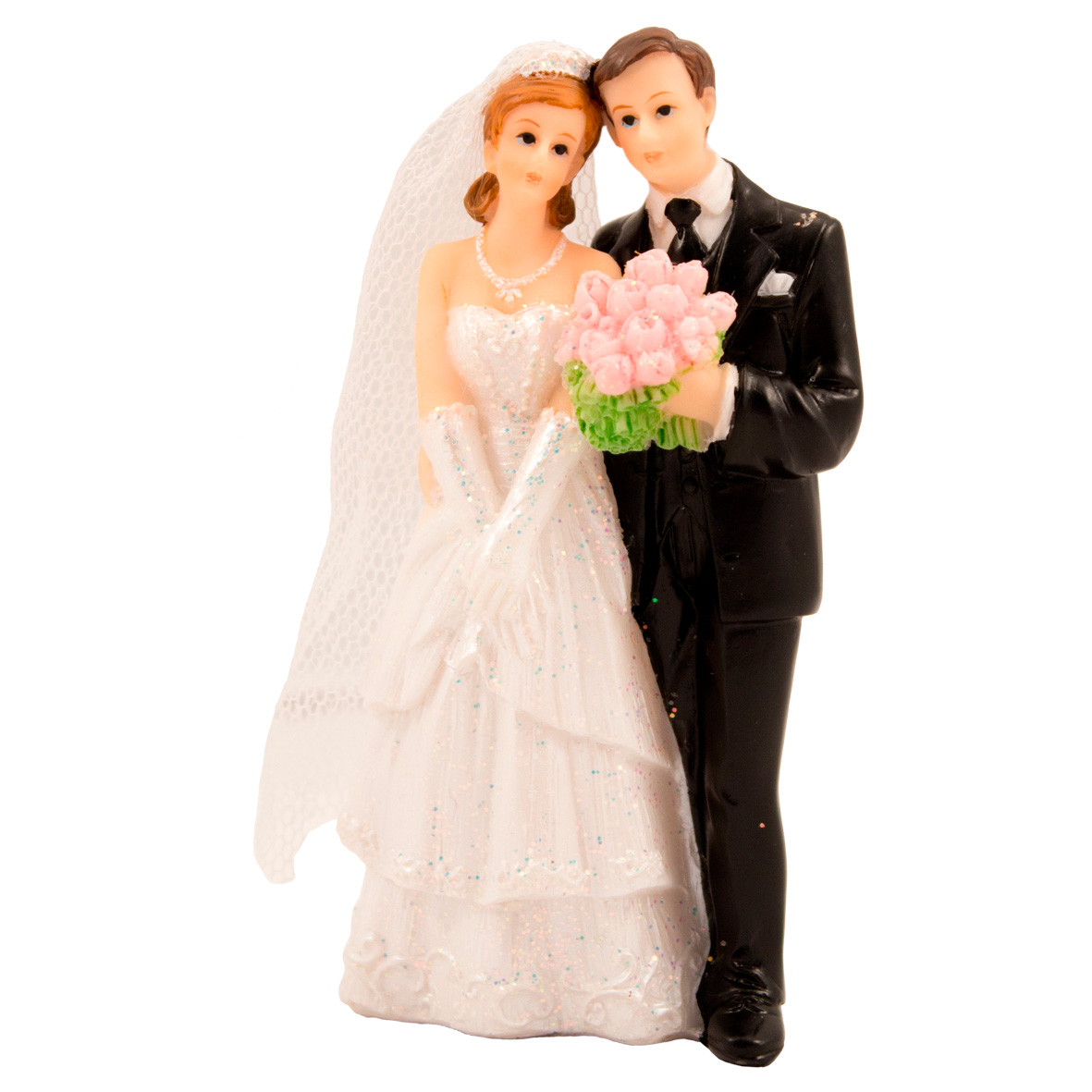 Hochzeitstorten Figur Paar Mit Blumenstrauss Schweizer Onlineshop