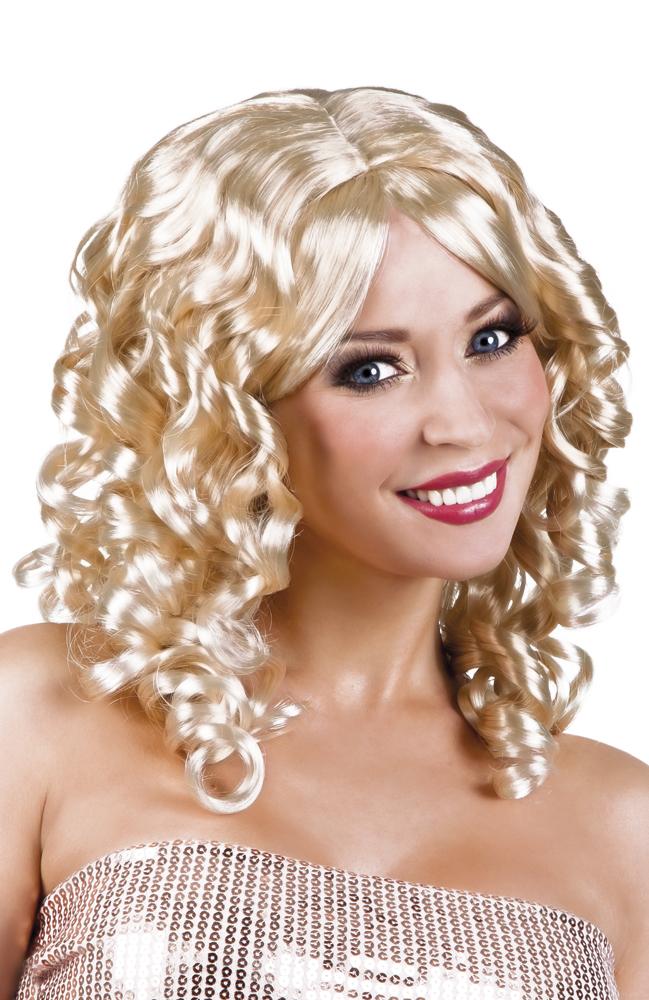 Perucke Mit Locken Blond