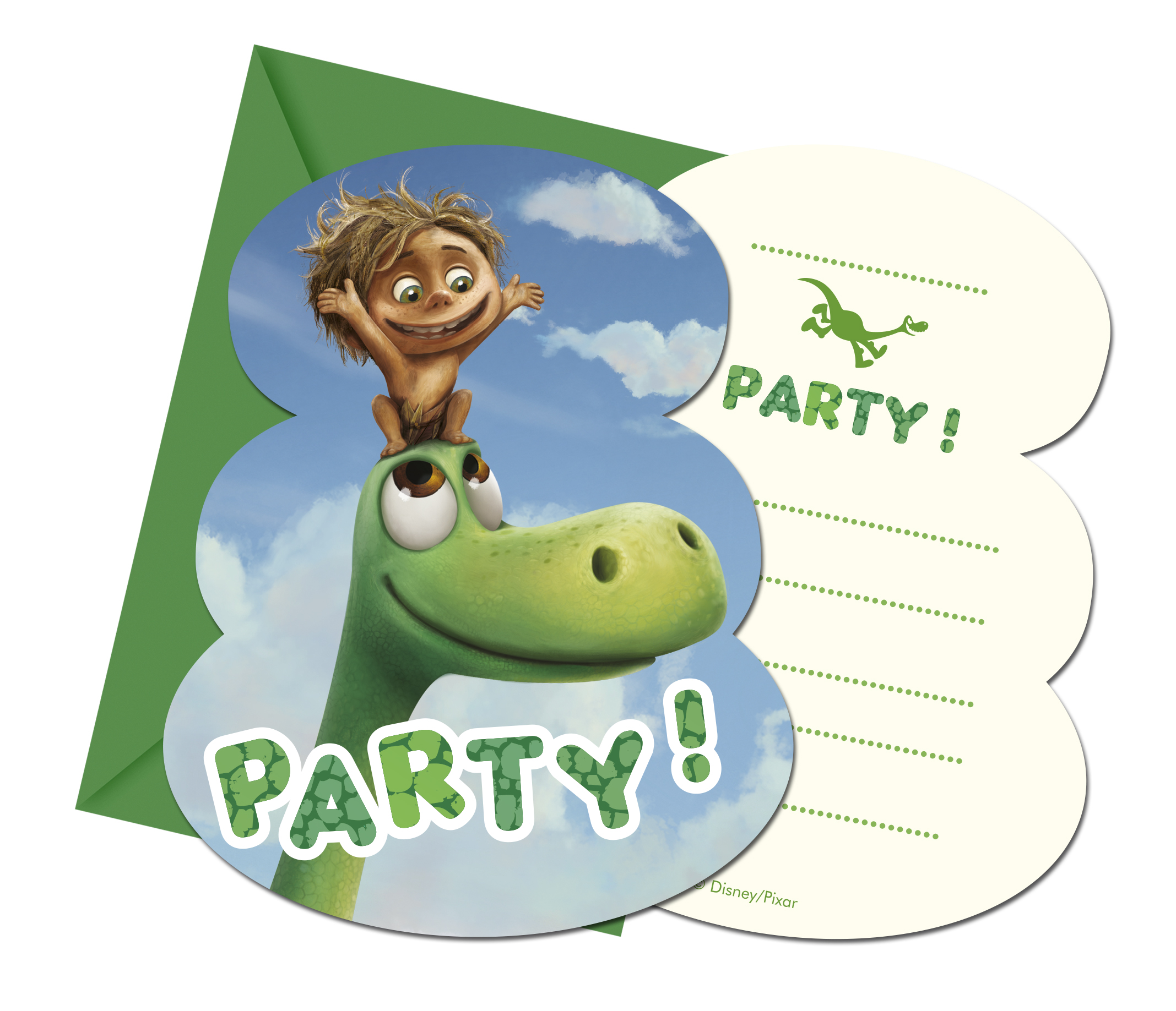 good dinosaurier einladungskarten :6 stück, 9 cm x 14 cm