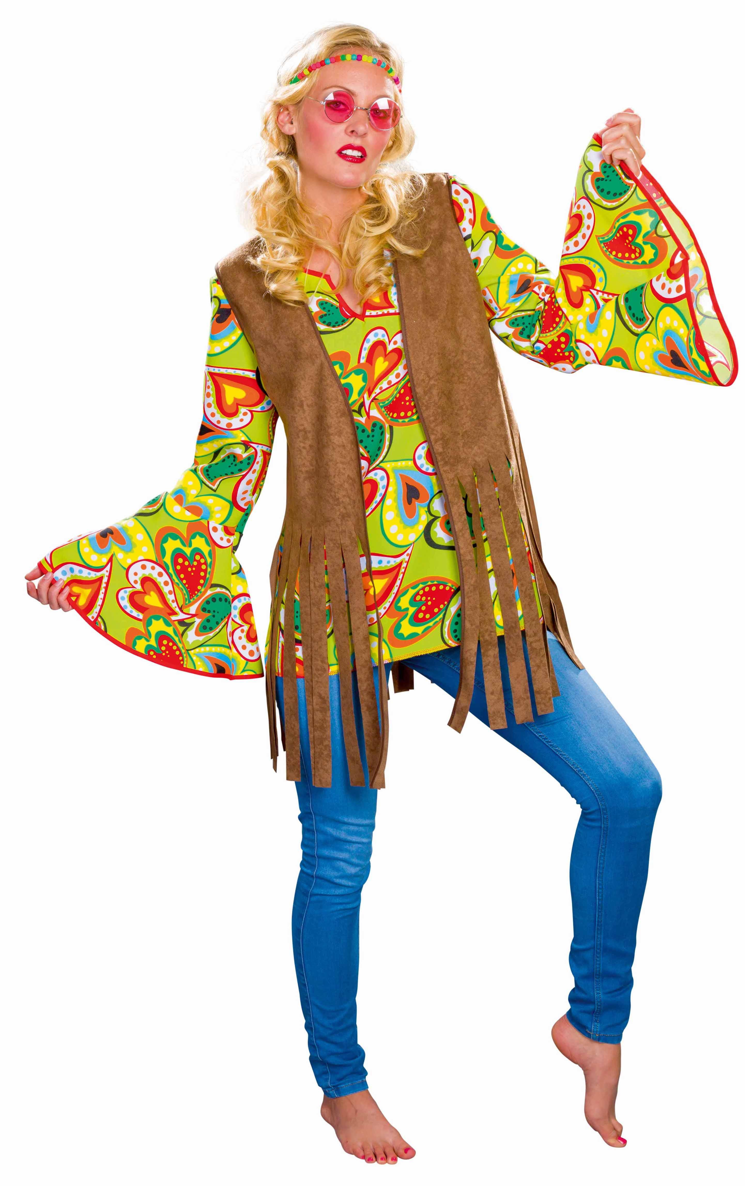 hippie-weste braun