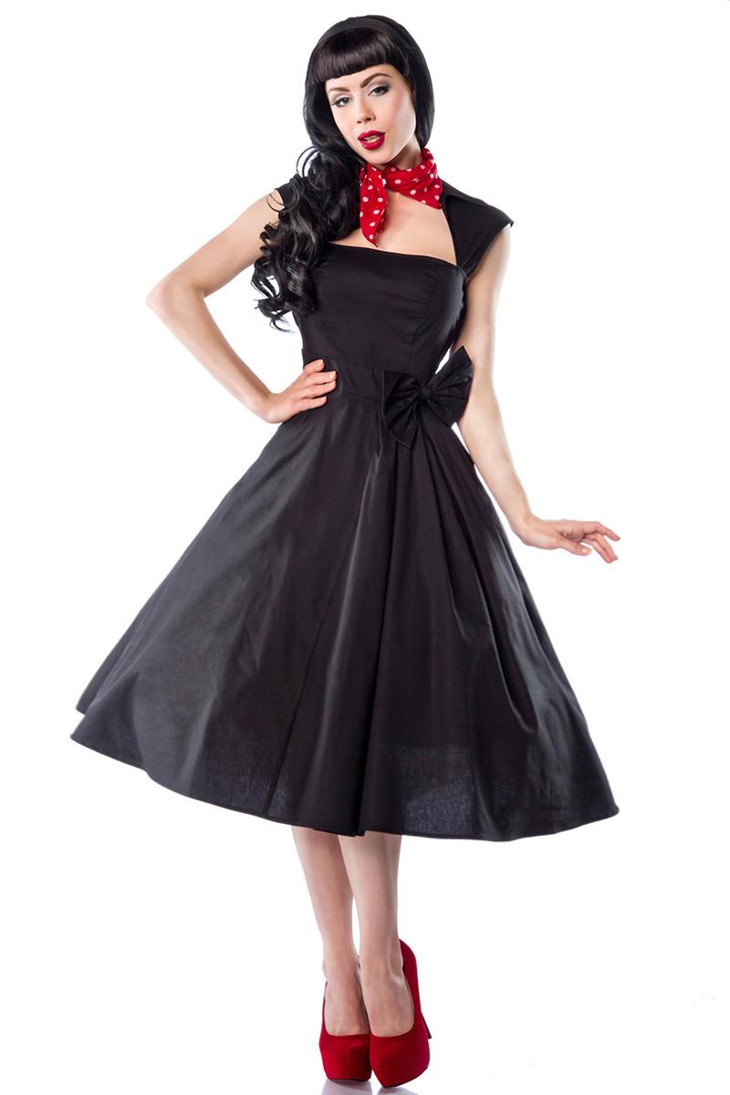 50er 60er Jahre Rockabilly Kleid Schwarz Schweizer Onlineshop Fur