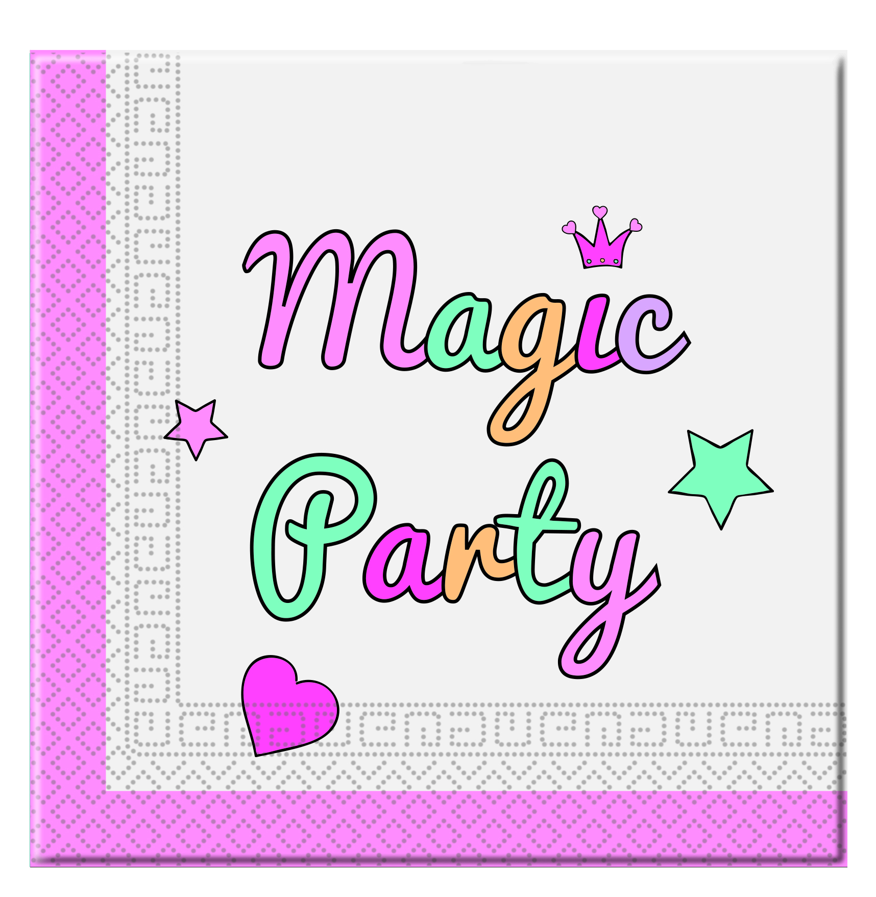 Einhorn Magic Servietten Kindergeburtstag Tischdeko 20 Stuck 33 X
