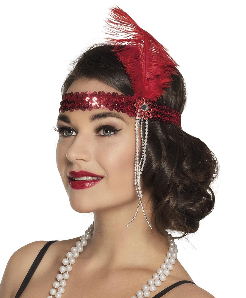 heiß-verkauf echt beste Sammlung echte Qualität 20er Jahre Haarband Flapper rot