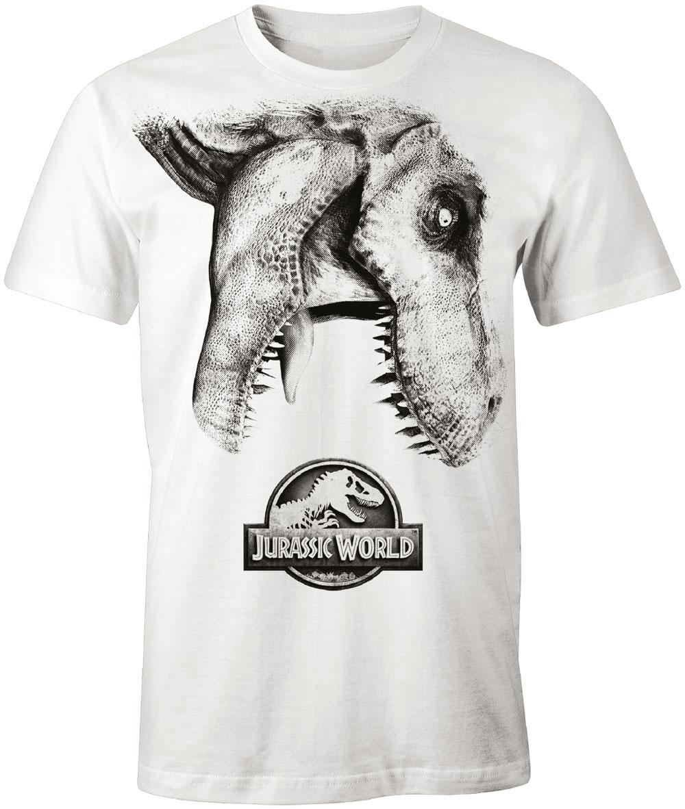 Jurassic Park T Shirt Tyra Logo Weiss Schweizer Onlineshop Fur