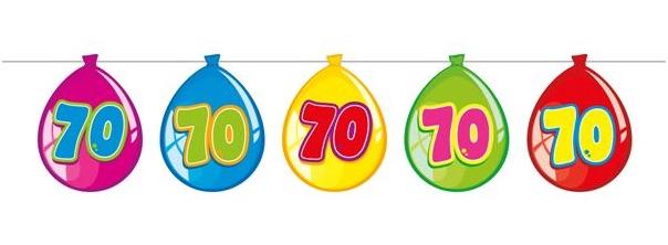 70 geburtstag wimpelkette dekoration runder geburtstag for Dekoration 70 geburtstag